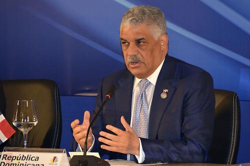 Rueda de prensa del Ministros de Relaciones Exteriores, Miguel Vargas Maldonado