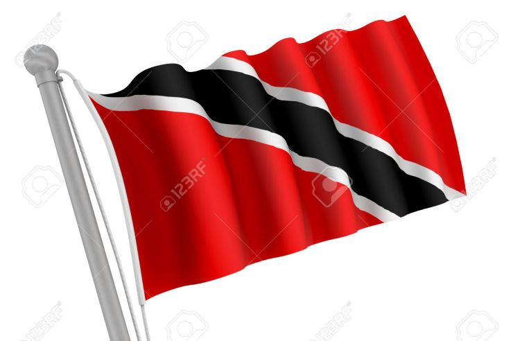 Trinidad and Tobago Flag on Pole